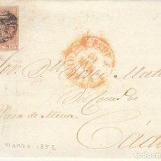 Sellos: SELLO 12. ISABEL II. MADRID A CADIZ. 1852.. Lote 172002750