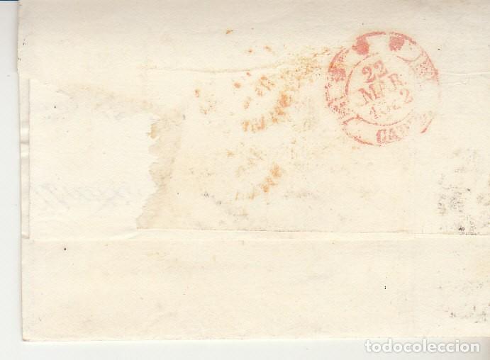 Sellos: Sello 12. ISABEL II. MADRID a CADIZ. 1852. - Foto 2 - 172002750