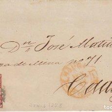 Sellos: SELLO 17. ISABEL II.MADRID A CADIZ.1853.. Lote 172005280