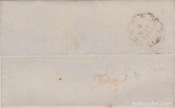 Sellos: Sello 24. ESCUDO DE ESPAÑA. MADRID a CADIZ.1854. - Foto 2 - 172006535