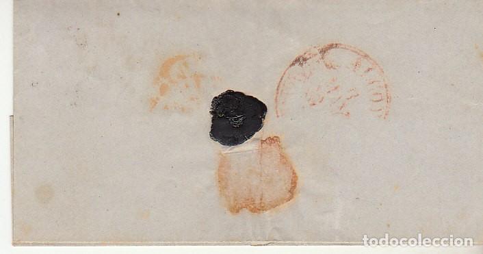 Sellos: ENVUELTA : Sello 24. ESCUDO DE ESPAÑA. MADRID a ALCOY. 1854. - Foto 2 - 172007019