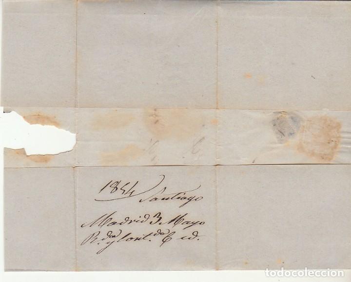 Sellos: ENVUELTA : Sello 24. ESCUDO DE ESPAÑA. MADRID a ALCOY. 1854. - Foto 3 - 172007019