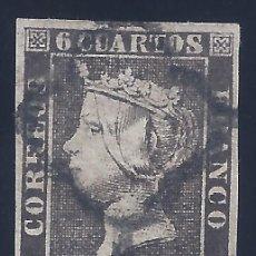 Sellos: EDIFIL 1A. ISABEL II. AÑO 1850. MATASELLOS DE ARAÑA NEGRA. NEGRO INTENSO. EXCELENTE VALOR. LUJO.. Lote 172007850