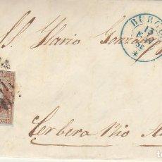 Sellos: SELLO 40 : ISABEL II: BURGOS A CERVERA DEL RIO ALHAMA (RIOJA). 1855.. Lote 172019240