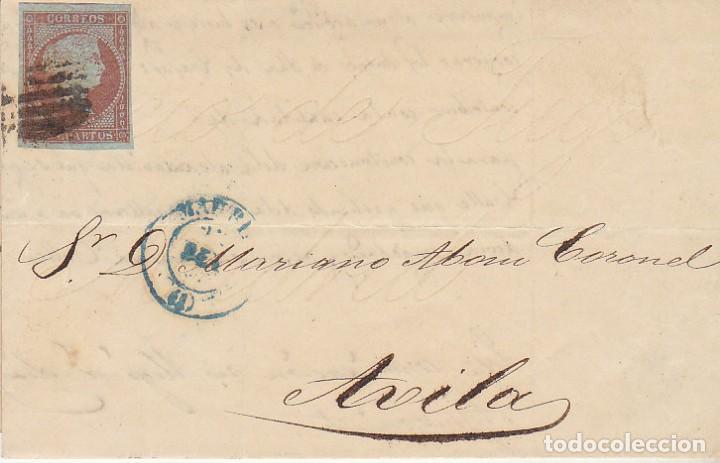 SELLO 40 : ISABEL II: MADRID A AVILA. 1855. (Sellos - España - Isabel II de 1.850 a 1.869 - Cartas)