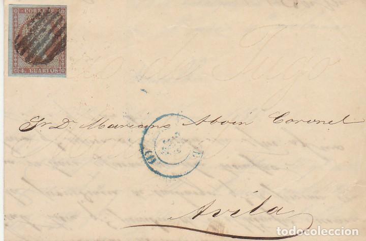 SELLO 40 : ISABEL II: A AVILA.1855. (Sellos - España - Isabel II de 1.850 a 1.869 - Cartas)