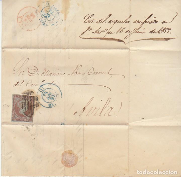 Sellos: Sello 40 : ISABEL II: MADRID a AVILA. 1855. - Foto 2 - 172020894