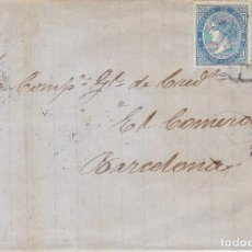Sellos: SELLO 88 .(PAREJA). ISABEL II. ALICANTE A BARCELONA. 1867. Lote 172068607