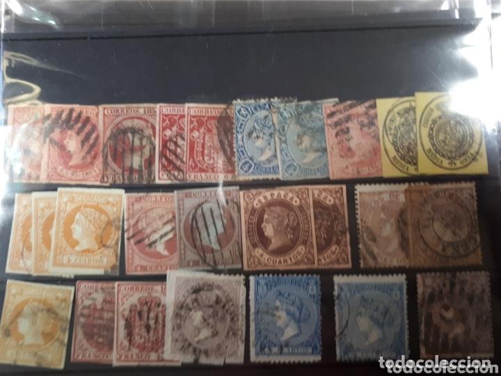 GRAN LOTE DE SELLOS DE ESPAÑA ENTRE AÑOS 1851 Y 1870 LOT.N.802 (Sellos - España - Isabel II de 1.850 a 1.869 - Usados)