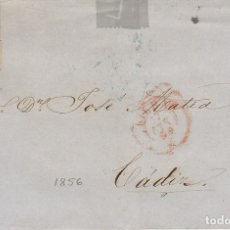Sellos: FRONTAL : SELLO 48. ISABEL II. A CADIZ. 1856.. Lote 172235559