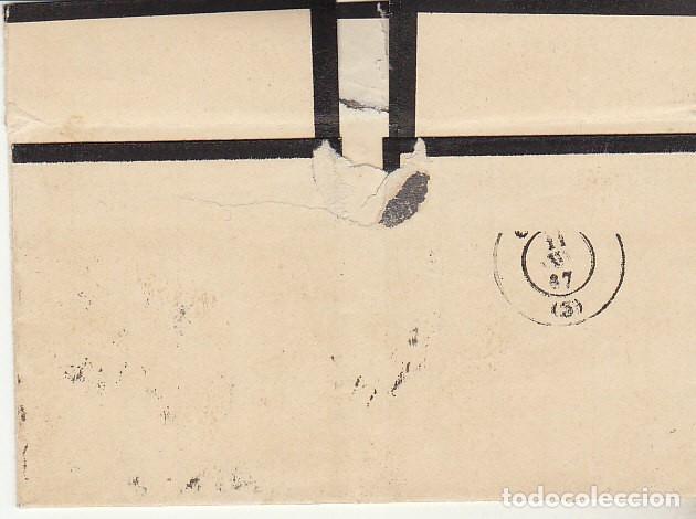 Sellos: LUTO: Sello 96. Isabel II. PUERTO REAL a CADIZ. 1867. - Foto 2 - 172236312