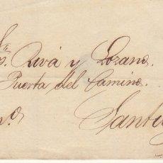 Sellos: FRONTAL : SELLO 48. ISABEL II. CORUÑA A SANTIAGO. 1859. . Lote 172237124