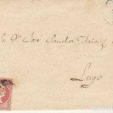 Sellos: FRAGMENTO: SELLO 48-B. ISABEL II. CORUÑA A LUGO. 1859.. Lote 172237882