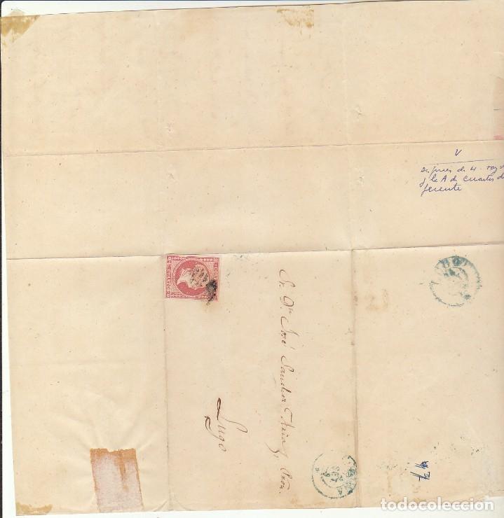 Sellos: FRAGMENTO: Sello 48-B. ISABEL II. CORUÑA a LUGO. 1859. - Foto 4 - 172237882