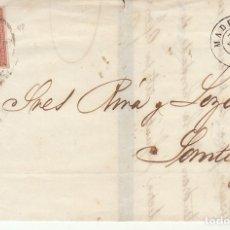Sellos: LUTO: SELLO 48. ISABEL II. MADRID A SANTIAGO.1859.. Lote 172238542