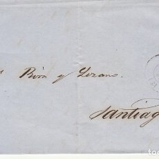 Sellos: ENVUELTA : SELLO 58.ISABEII. CORUÑA A SANTIAGO. 1863.. Lote 172239302