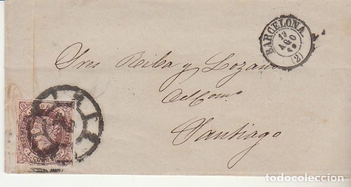 SELLO 58. ISABEL II : BARCELONA A SANTIAGO. 1862. (Sellos - España - Isabel II de 1.850 a 1.869 - Cartas)