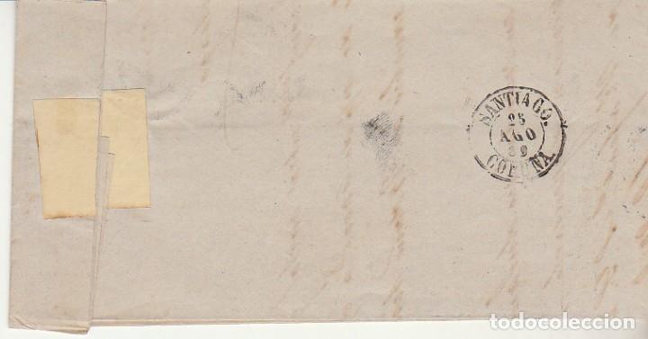 Sellos: sello 58. ISABEL II : BARCELONA a SANTIAGO. 1862. - Foto 2 - 172241467