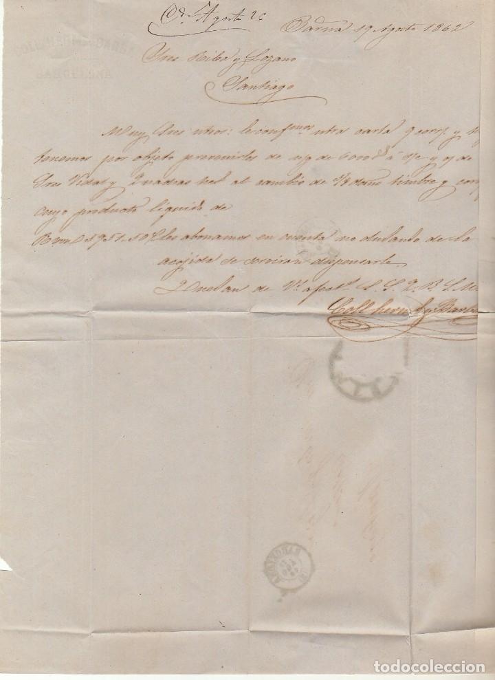 Sellos: sello 58. ISABEL II : BARCELONA a SANTIAGO. 1862. - Foto 3 - 172241467