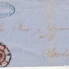 Sellos: SELLO 58. ISABEL II : BARCELONA A SANTIAGO. 1862.. Lote 172242054