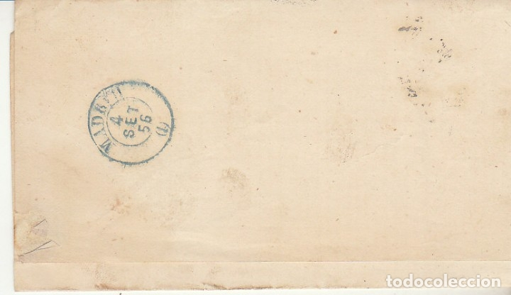 Sellos: FRAGMENTO :Sello 48. ISABEL II. a MADRID. 1856. - Foto 2 - 172405204