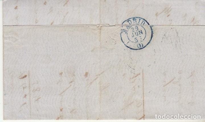 Sellos: Sello 48. ISABEL II . SANTANDER a MADRID . 1856. - Foto 2 - 172405324