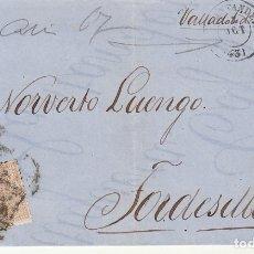 Sellos: ENVUELTA : SELLO 96. ISABEL II. SANTANDER A TORDESILLAS. 1867.. Lote 172405983