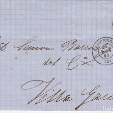 Sellos: SELLO 58. ISABEL II : BARCELONA A VILLA GARCIA. 1863.. Lote 172407385