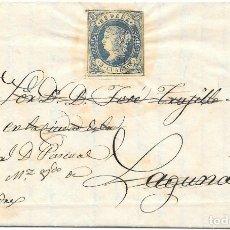 Sellos: CANARIAS. EDIFIL 57. ENVUELTA CIRCULADA DE LA PALMA A LA LAGUNA REEXPEDIDA A SAN ANDRES. Lote 172638302