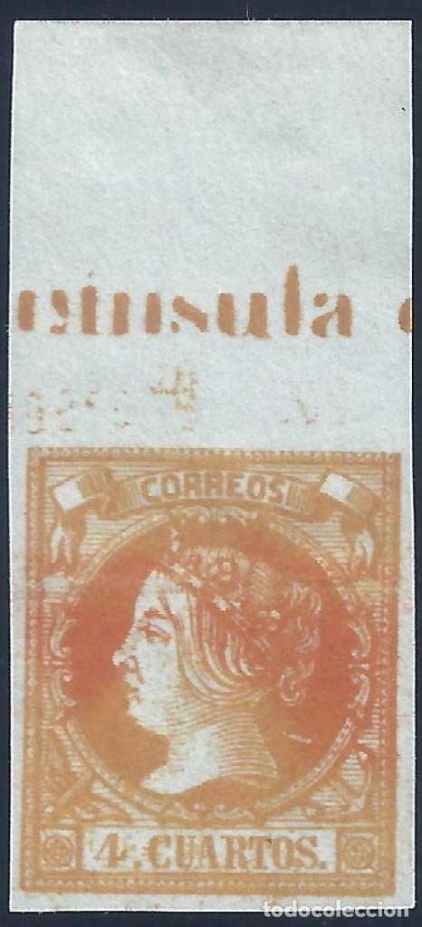 EDIFIL 52 ISABEL II. AÑO 1860. VALOR CATÁLOGO: 58 €. LUJO. MH * (Sellos - España - Isabel II de 1.850 a 1.869 - Nuevos)
