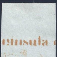Sellos: EDIFIL 52 ISABEL II. AÑO 1860. VALOR CATÁLOGO: 58 €. LUJO. MH *. Lote 172657254