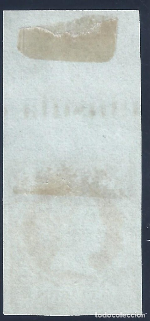 Sellos: EDIFIL 52 ISABEL II. AÑO 1860. VALOR CATÁLOGO: 58 €. LUJO. MH * - Foto 2 - 172657254