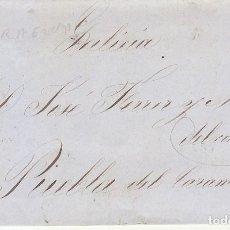 Sellos: SELLO 48B. ISABEL II. TARRAGONA A PUEBLA DE CARAMIÑAL (CORUÑA).1856.. Lote 172708407