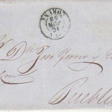 Sellos: SELLO 48. ISABEL II. CORUÑA A PUEBLA (CORUÑA).1858.. Lote 172713128