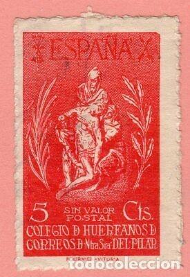 ESPAÑA 1943 BENEFICENCIA GÁLVEZ 84º COLEGIO HUÉRFANOS DE CORREOS (Sellos - España - Isabel II de 1.850 a 1.869 - Usados)