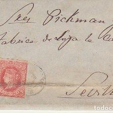 Sellos: SELLO 64. ISABEL II. SANTOÑA A SEVILLA.1864.. Lote 172847022