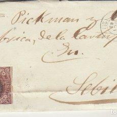 Sellos: SELLO 58. ISABEL II. BURGOS A SEVILLA. 1863.. Lote 172847937