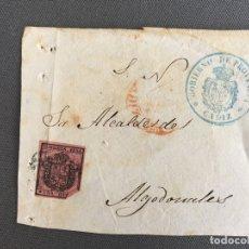 Sellos: LOTE DE 2 FRONTALES DE CARTAS SOBRES DE ALGODONALES , CADIZ 1854 , AL SR. ALCALDE . Lote 173060538