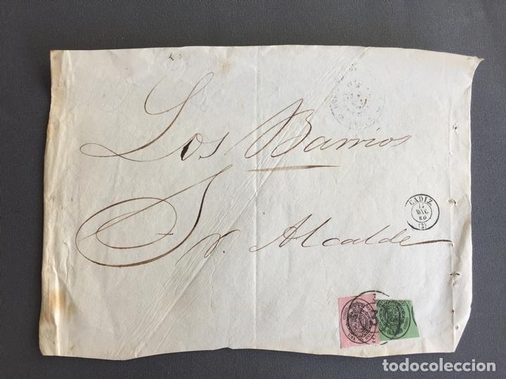 Sellos: LOTE DE 3 FRONTALES DE CARTAS SOBRES DE LOS BARRIOS , CADIZ 1860 - 1861 , AL SR. ALCALDE - Foto 2 - 173065260