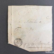 Sellos: LOTE DE 3 FRONTALES DE CARTAS SOBRES DE LOS BARRIOS , CADIZ 1860 - 1861 , AL SR. ALCALDE . Lote 173065260