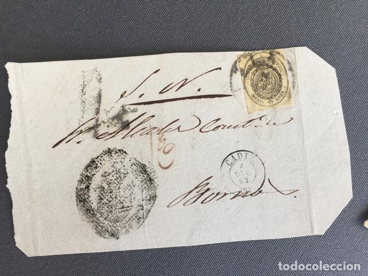 LOTE DE 3 FRONTALES DE CARTAS SOBRES DE LOS BARRIOS , CADIZ 1862 - 1861 , AL SR. ALCALDE (Sellos - España - Isabel II de 1.850 a 1.869 - Cartas)