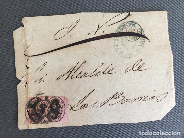 Sellos: LOTE DE 3 FRONTALES DE CARTAS SOBRES DE LOS BARRIOS , CADIZ 1860 , AL SR. ALCALDE - Foto 2 - 173065387