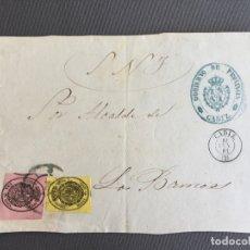 Sellos: LOTE DE 3 FRONTALES DE CARTAS SOBRES DE LOS BARRIOS , CADIZ 1860, 1861 , 1864 , AL SR. ALCALDE . Lote 173065477