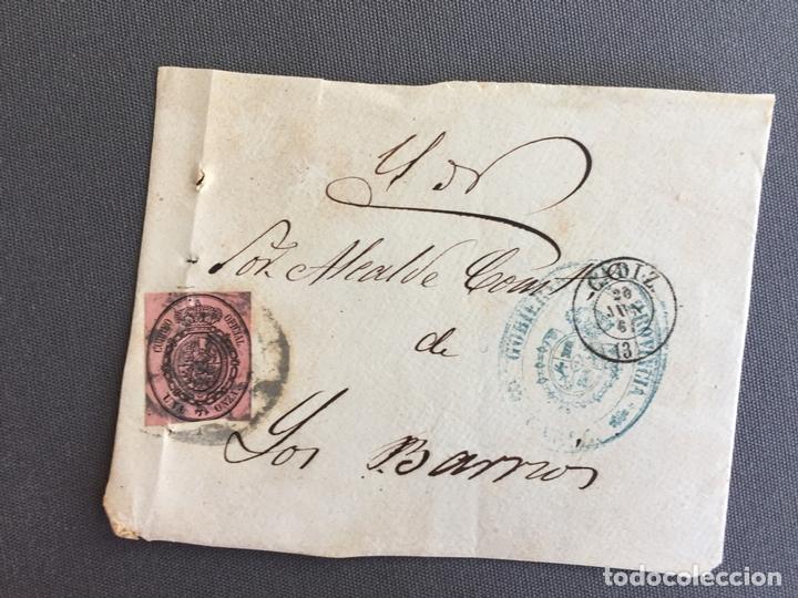 LOTE DE 3 FRONTALES DE CARTAS SOBRES DE LOS BARRIOS , CADIZ 1860, 1861 , AL SR. ALCALDE (Sellos - España - Isabel II de 1.850 a 1.869 - Cartas)