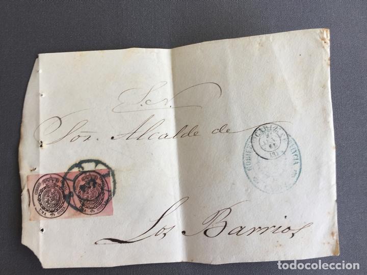 LOTE DE 3 FRONTALES DE CARTAS SOBRES DE LOS BARRIOS , CADIZ 1861 , AL SR. ALCALDE (Sellos - España - Isabel II de 1.850 a 1.869 - Cartas)