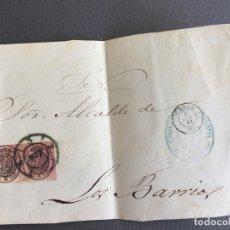 Sellos: LOTE DE 3 FRONTALES DE CARTAS SOBRES DE LOS BARRIOS , CADIZ 1861 , AL SR. ALCALDE . Lote 173065710