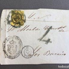 Sellos: LOTE DE 3 FRONTALES DE CARTAS SOBRES DE LOS BARRIOS , CADIZ 1861 , AL SR. ALCALDE N. 5. Lote 173066069