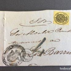 Sellos: LOTE DE 3 FRONTALES DE CARTAS SOBRES DE LOS BARRIOS , CADIZ 1861 , AL SR. ALCALDE N. 6. Lote 173066125