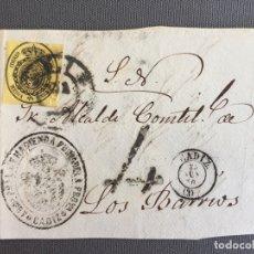 Sellos: LOTE DE 3 FRONTALES DE CARTAS SOBRES DE LOS BARRIOS , CADIZ 1860 , AL SR. ALCALDE N. 10. Lote 173067764