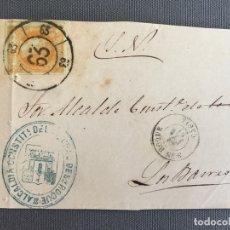 Sellos: LOTE DE 3 FRONTALES DE CARTAS SOBRES DE LOS BARRIOS , CADIZ 1861 , AL SR. ALCALDE N. 11. Lote 173067963